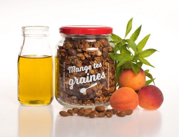 Bocal granola abricot huile d'olive