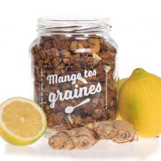 Bocal de granola citron gingembre