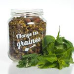 Bocal de granola salé pesto d'herbes