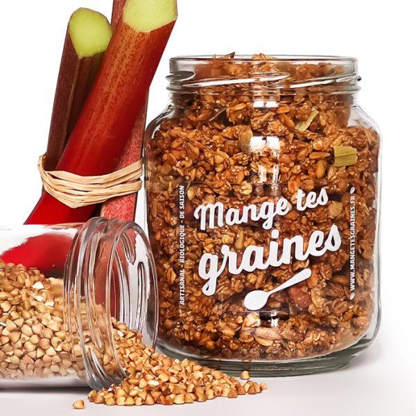 bocal de graines rhubarbe sarrasin