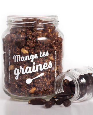 bocal de graines chocolat noir fève tonka
