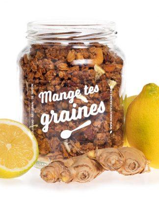 bocal de topping de graines citron gingembre