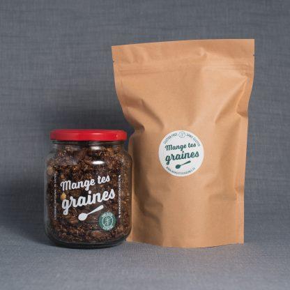 Bocal de granola chocolat noir sans gluten