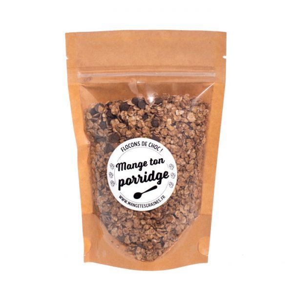 sachet de porridge flocons de choc