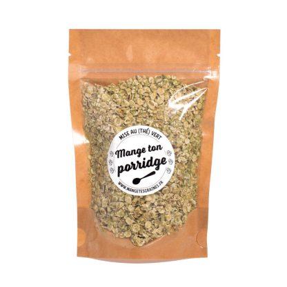 sachet de porridge mise au thé vert