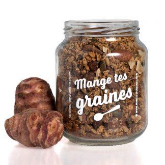 bocal de topping de graines salé légume oublié et épices indiennes
