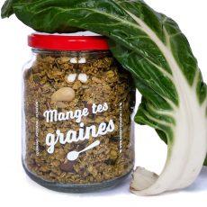 bocal de topping de graines blettes menthe