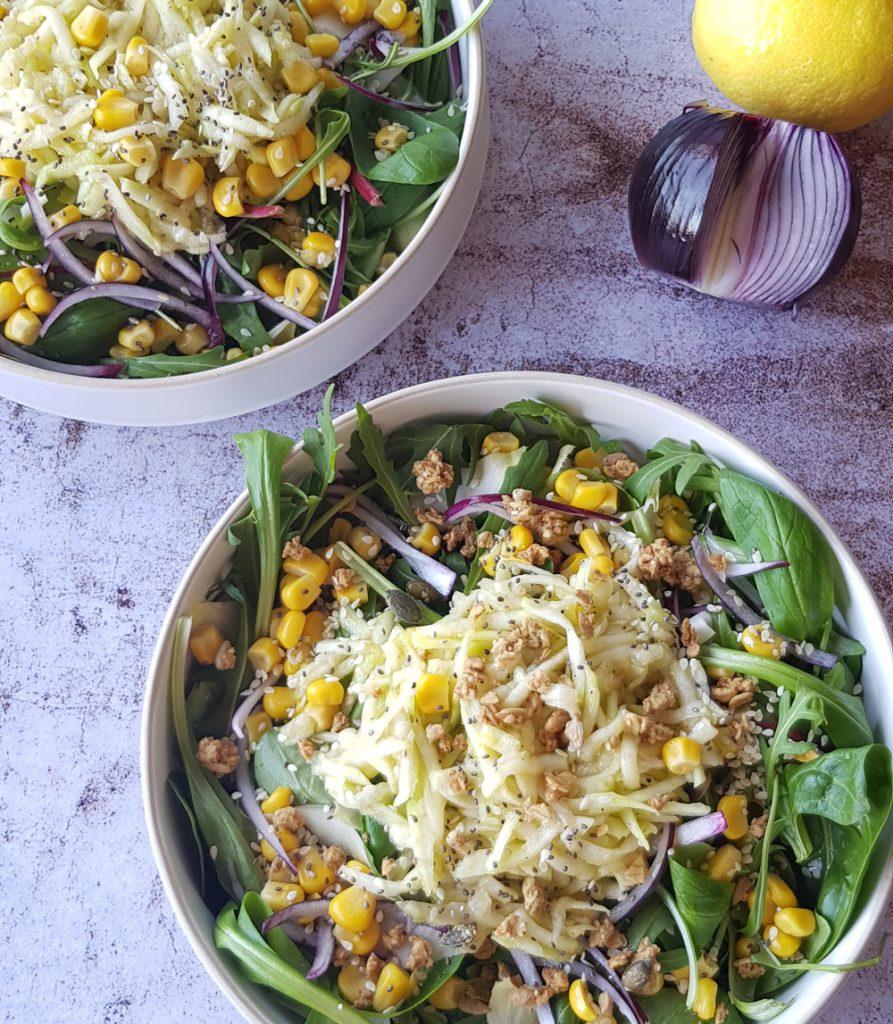 salade courgette et graines fenouil