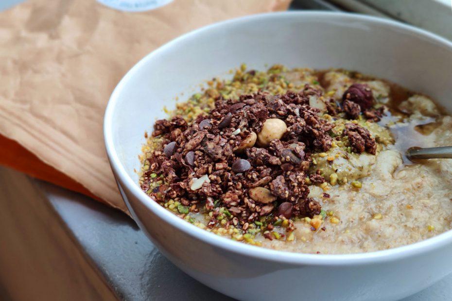porridge chocolat pistache