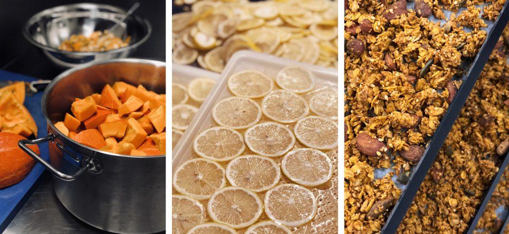 photos de la production dans l'atelier mange tes graines
