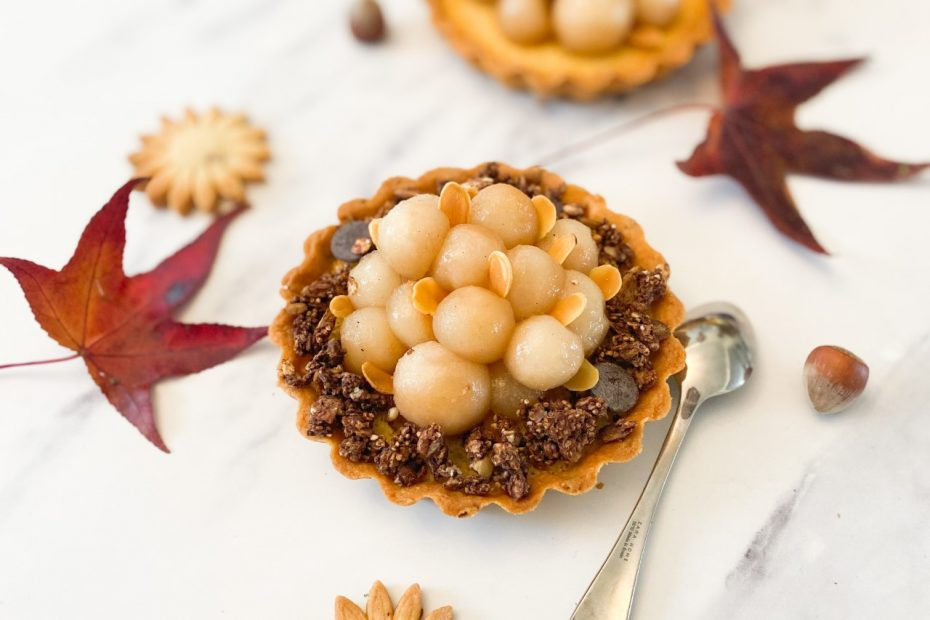 tartelettes poire topping chocovore