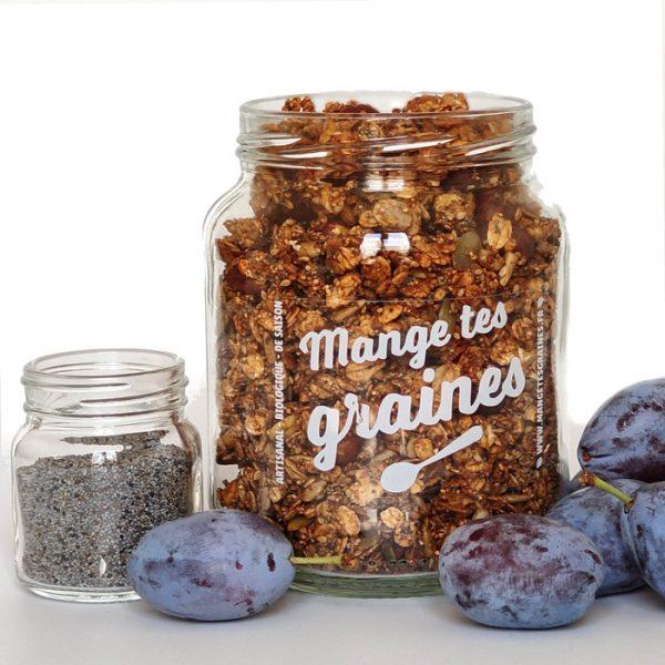 bocal de graines Prune Pavot