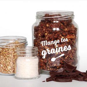 Bocal de graines chocolat Sarrasin